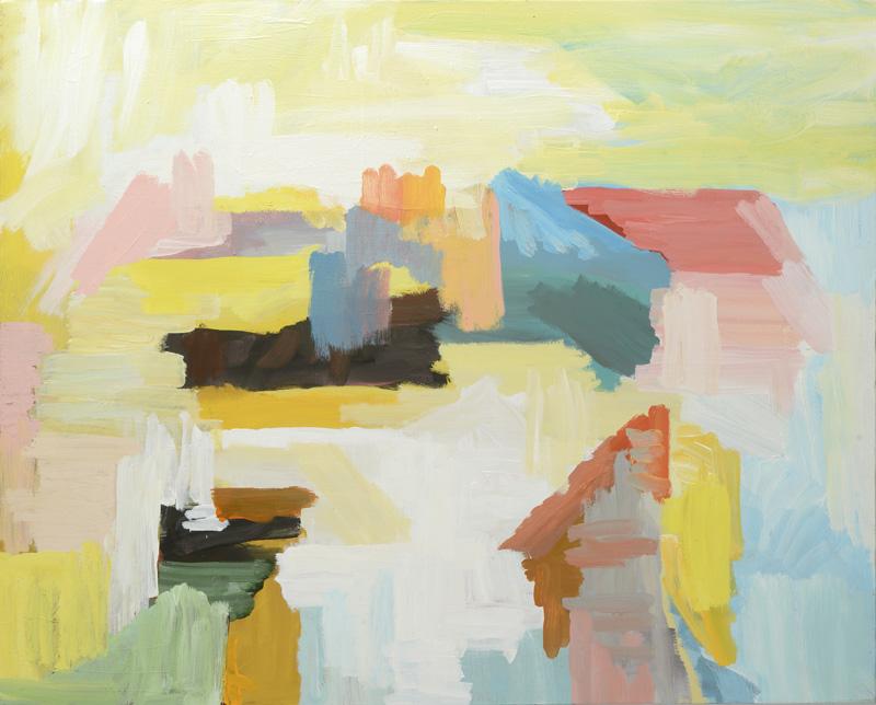 Senape, 2013, 80x100 cm, tempera su tela
