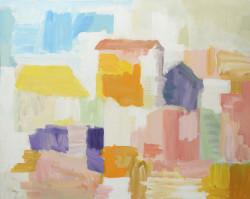 Celeste polvere, 2013, 80x100 cm, tempera su tela