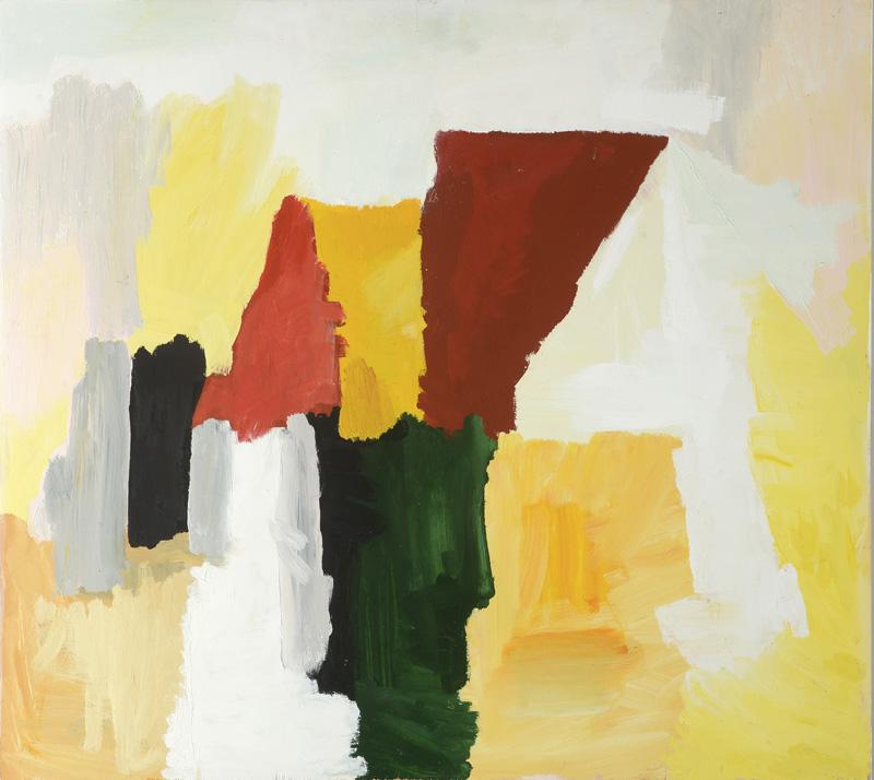 Ocra rossa, 2012, 80x90 cm, tempera su tavola